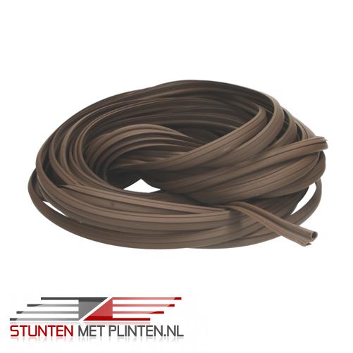 Contactgeluid reducerende strip donker bruin 25 mtr