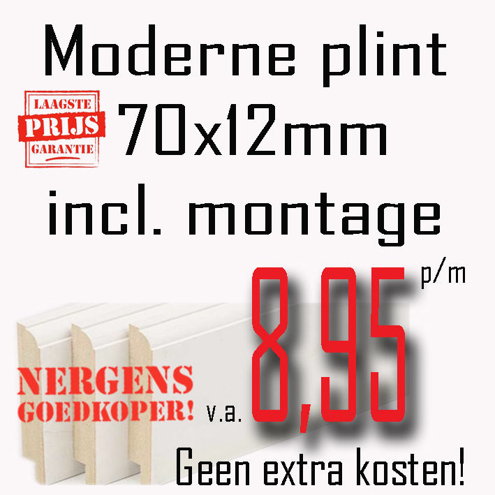 Vaste lage prijs moderne plint  stuntenmetplinten.nl