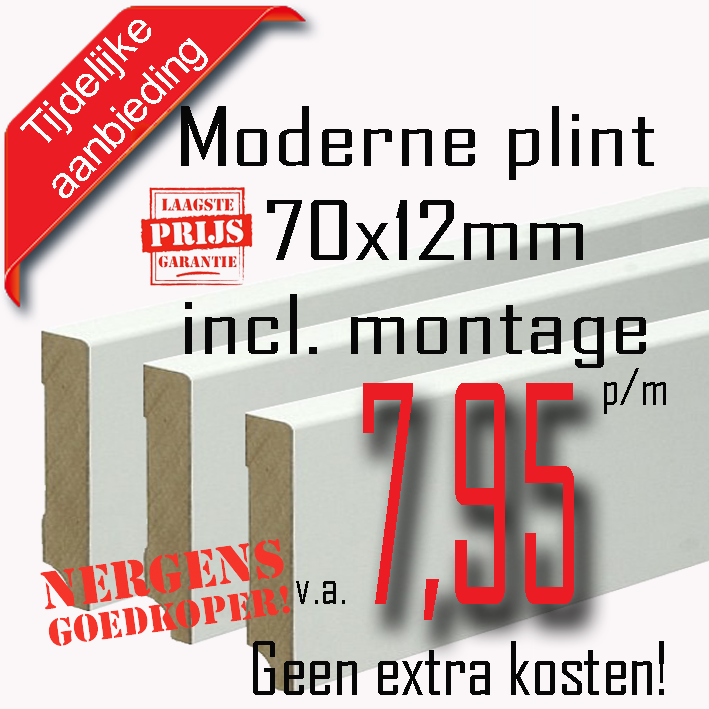 Aanbieding moderneplint 70x12 stuntenmetplinten.nl