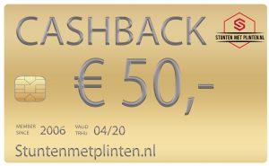 Cashback aktie stuntenmetplinten.nl