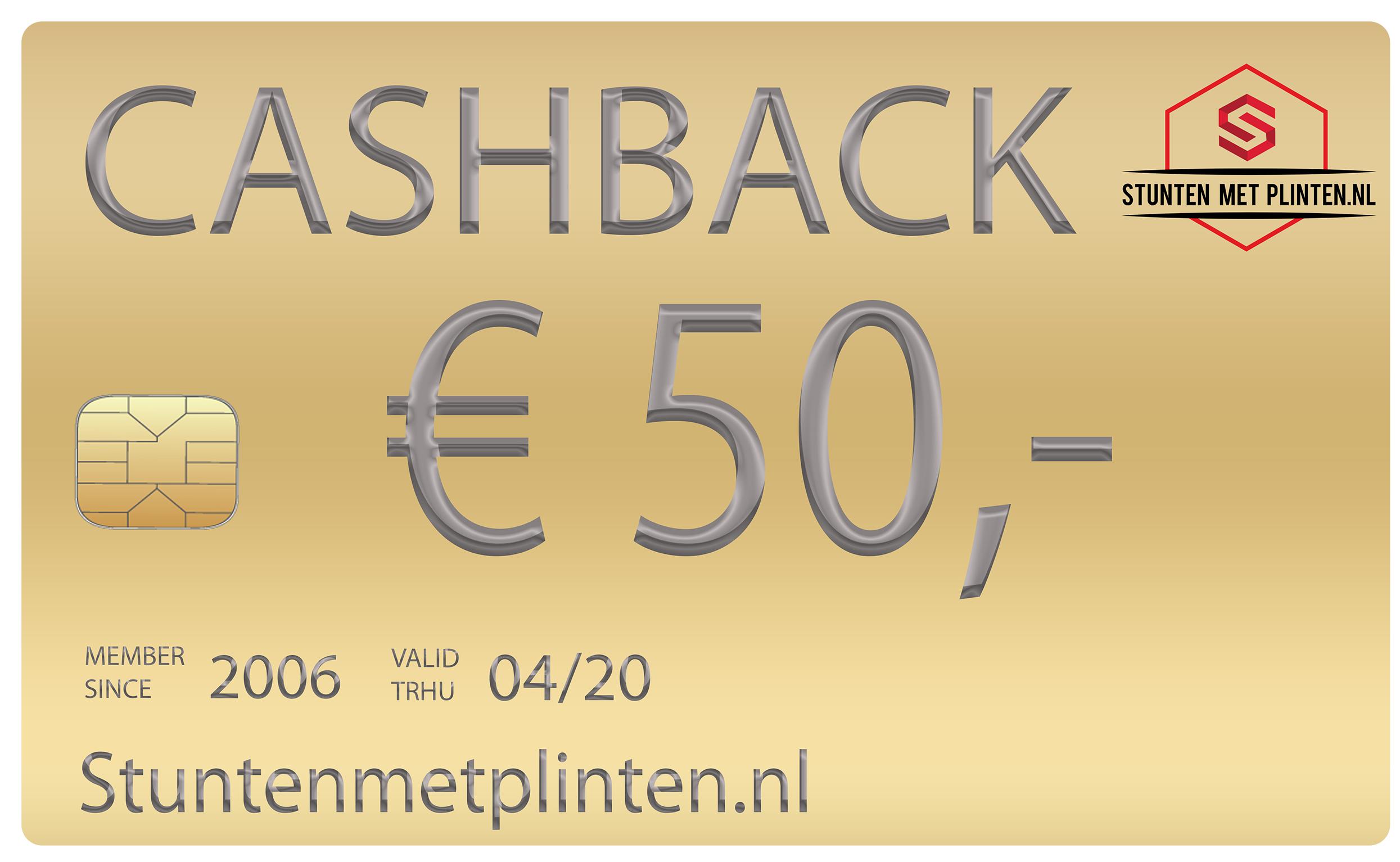 Caschback aktie Stuntenmetplinten.nl
